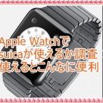 Apple Watchでsuicaが使えるか調べてみた!使えるとこんなに楽