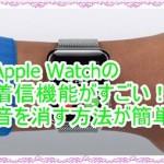Apple Watchの着信機能がすごい!音を消す方法も簡単すぎる