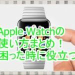 Apple Watchの使い方まとめ!困ったらとりあえずコレを見ろ